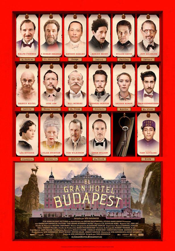 Cartel de El Gran Budapest Hotel