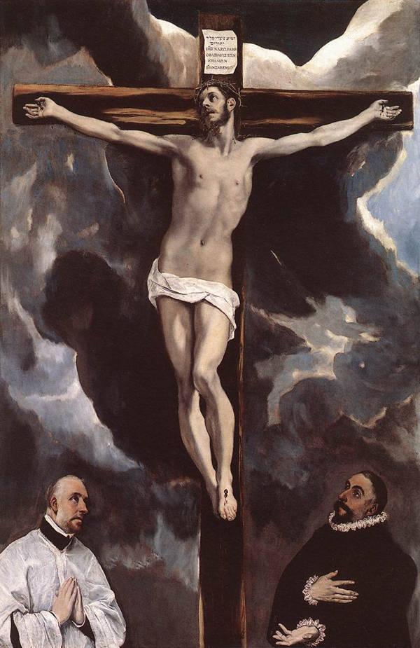 Cristo en la Cruz con dos donantes (París, Fr - Museo de Louvre) 1590.