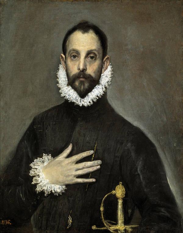 El caballero de la mano en el pecho (Madrid - Museo Nacional del Prado) 1578 y 1580.