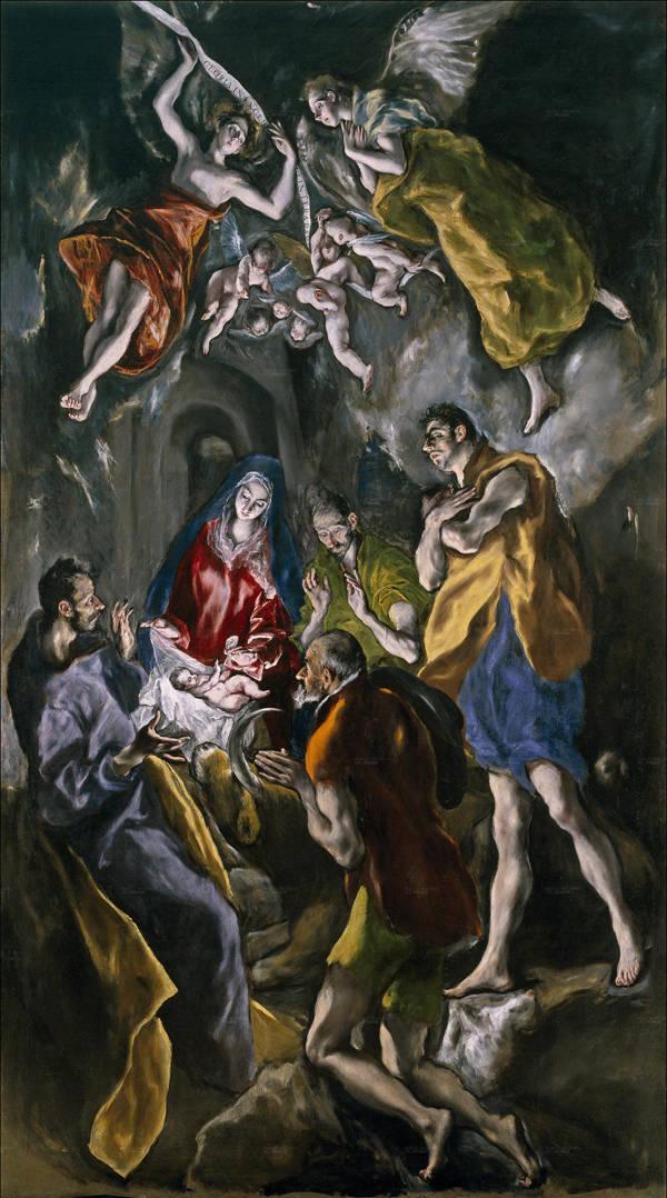 La adoración de los pastores (Roma, It - Galleria Nazionale d´Arte antica Palazzo Barberini) 1612 y 1614.