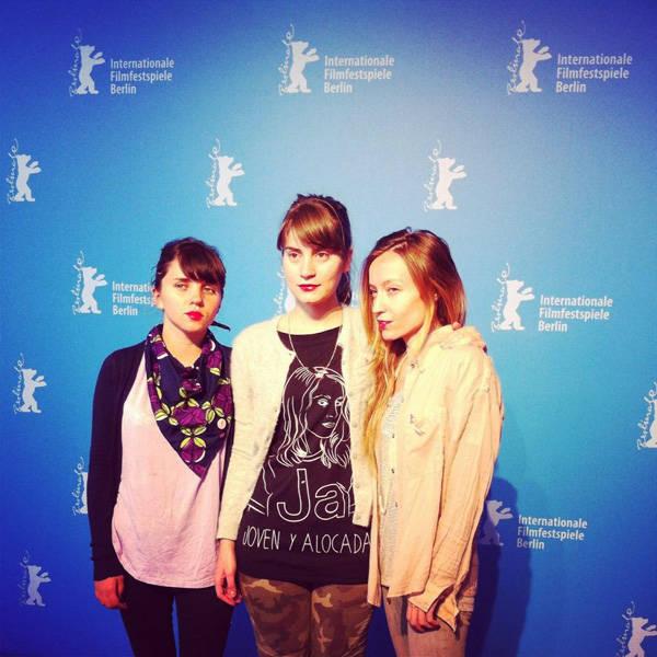Camila Gutiérrez, Alicia Rodríguez y Marialy Rivas en la Berlinale