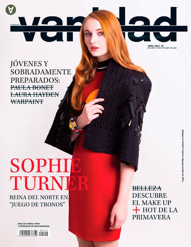 Sophie Turner en la portada del número 204 de Vanidad