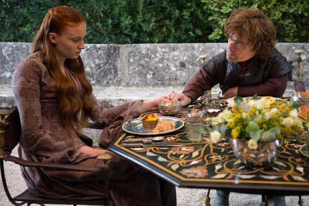 Los recién casados... Tyrion Lannister y Sansa Stark
