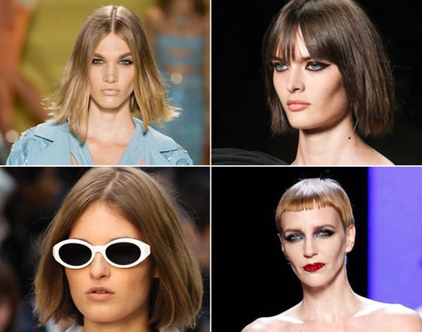 Así se cortan el pelo las modelos de Versace, Saint Laurent, Burberry Prorsum y Jean Paul Gaultier.
