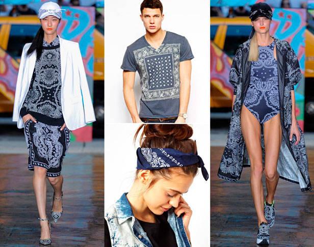 Propuestas primavera-verano 2014 de DKNY sobre la pasarela. Pañuelo y camiseta masculina de Asos.