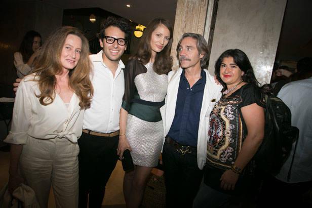 La directora de Vanidad y View Of The Times Olga Liggeri, Baruc Corazón y Lucía Etxebarría