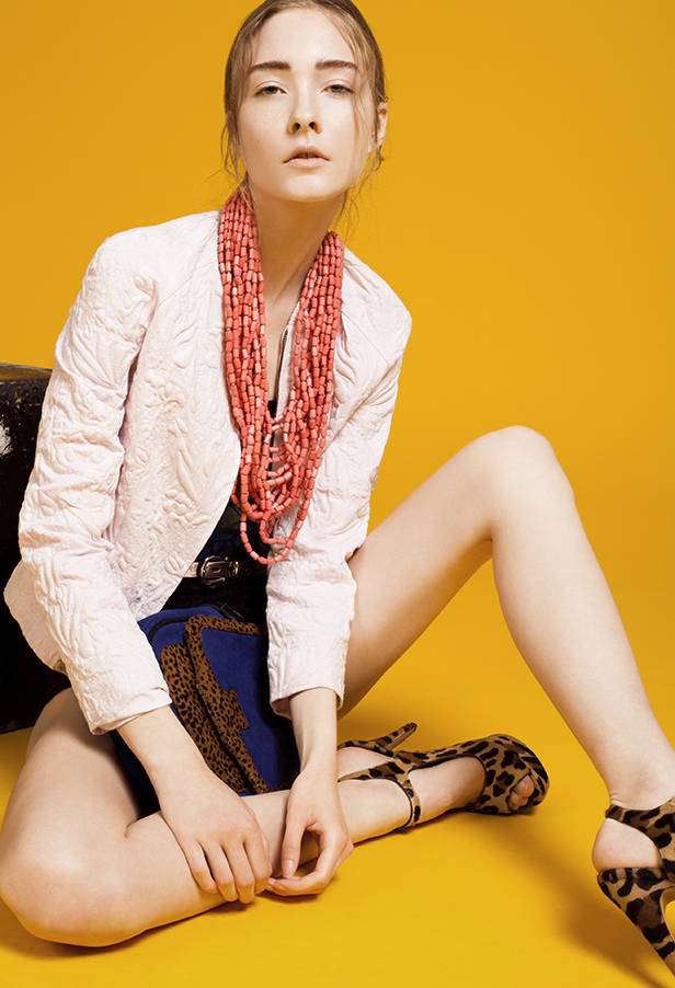 Chaqueta rosa estampada de ANTIK BATIK Maxi collar rosa de PENNYBLACK POR FELGAR.ES Underwear y bañador estampado de UNDIZ Bolso con print de leopardo de ANTIK BATIK Zapatos en leopardo de PRADA