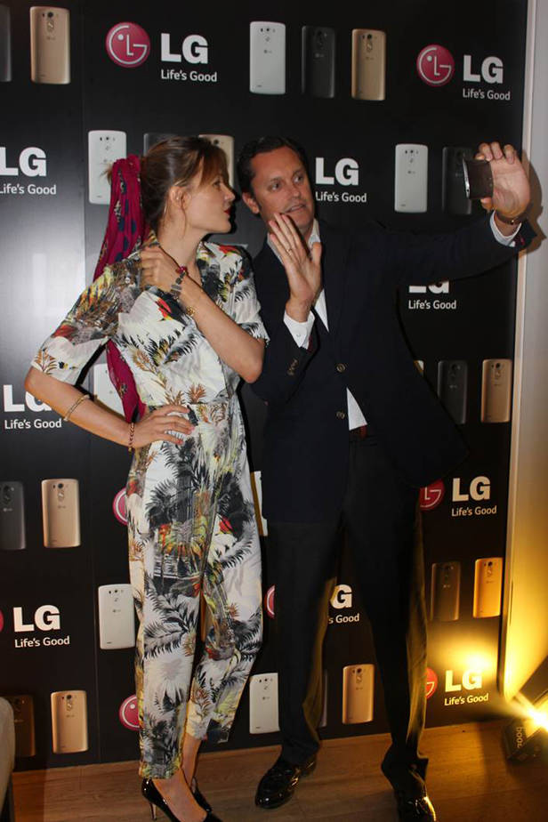 Patricia Nicolás en el photocall de LG