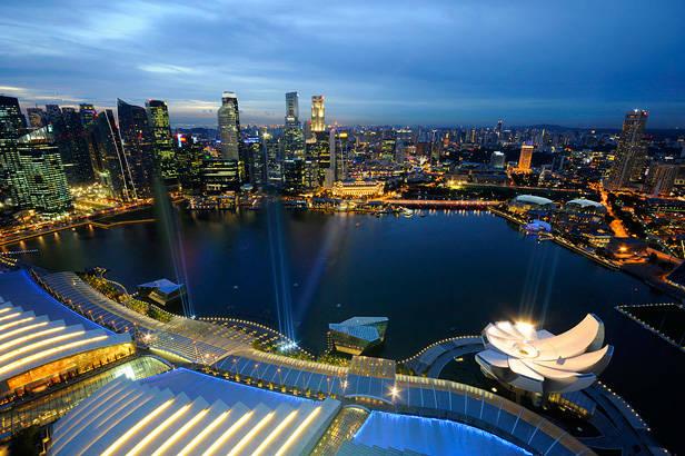 Marina Bay y el skyline de Singapur