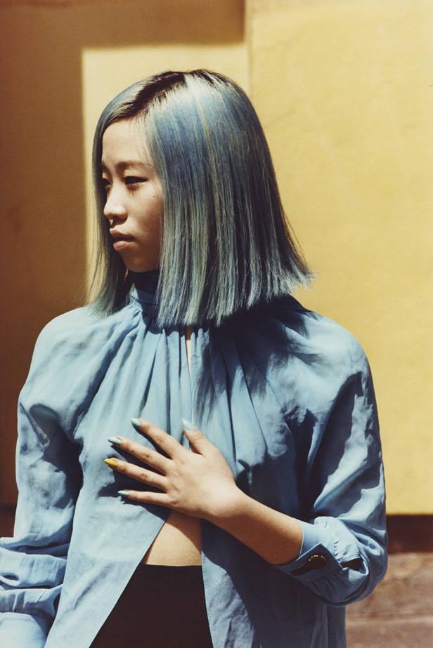 Camisa azul de MIGUEL PALACIO para HOSS INTROPIA
