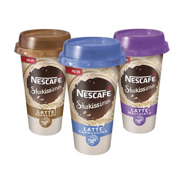 Distintos sabores de Shakissimo de Nescafé