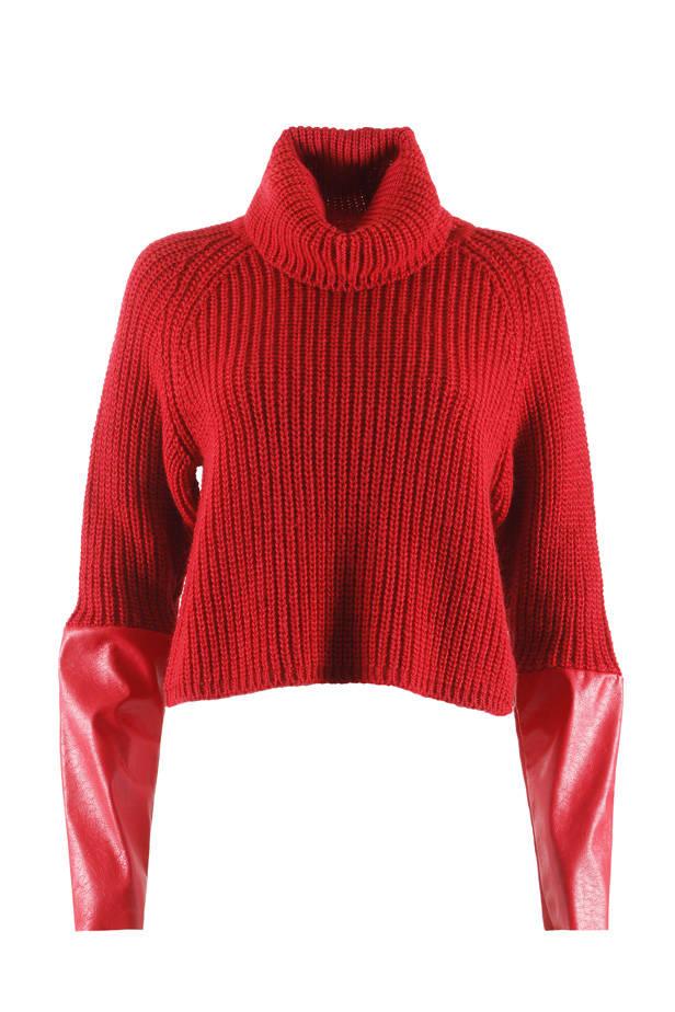 Jersey de lana y cuero, de GUESS by Marciano.