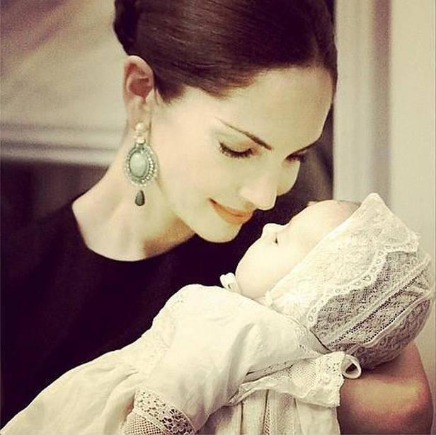 Eugenia Silva con su hijo Alfonso