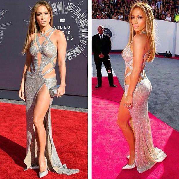 Jennifer Lopez sobre la alfombra roja.