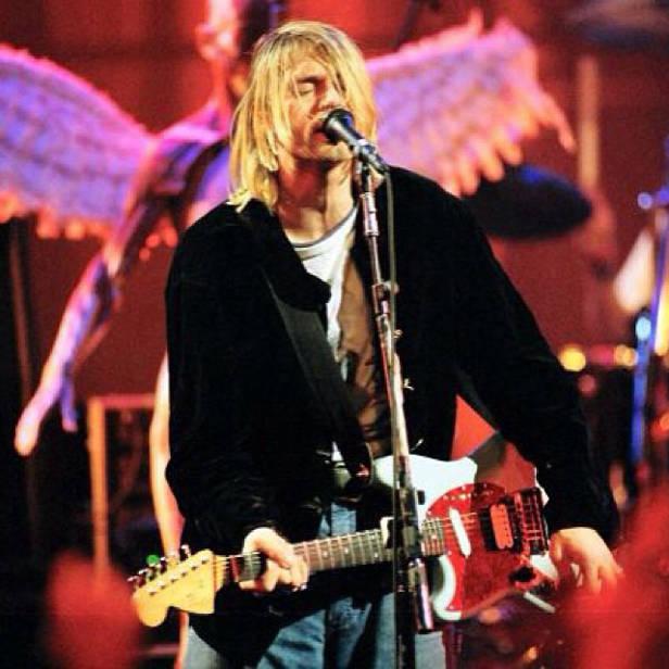 Kurt Cobain en concierto.