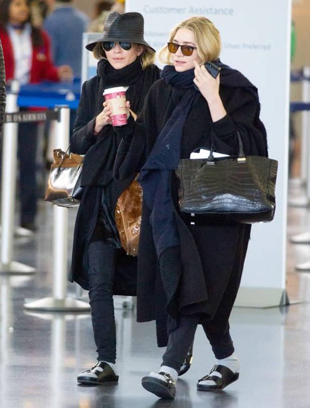 Las hermanas Olsen con tendencia normcore