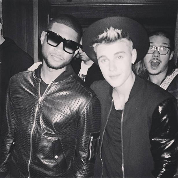 Usher y Justin Beiber.