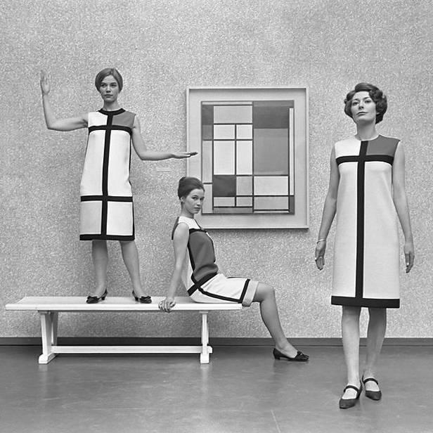 Vestidos homenaje a Piet Mondrian