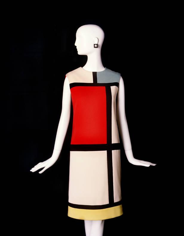 Vestido corto de cóctel homenaje a Piet Mondrian/ Otoño-invierno 1965
