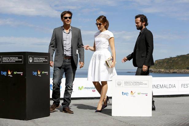 Romain Duris, Anaïs Demoustier, François Ozon. Foto: Iñaki Pardo