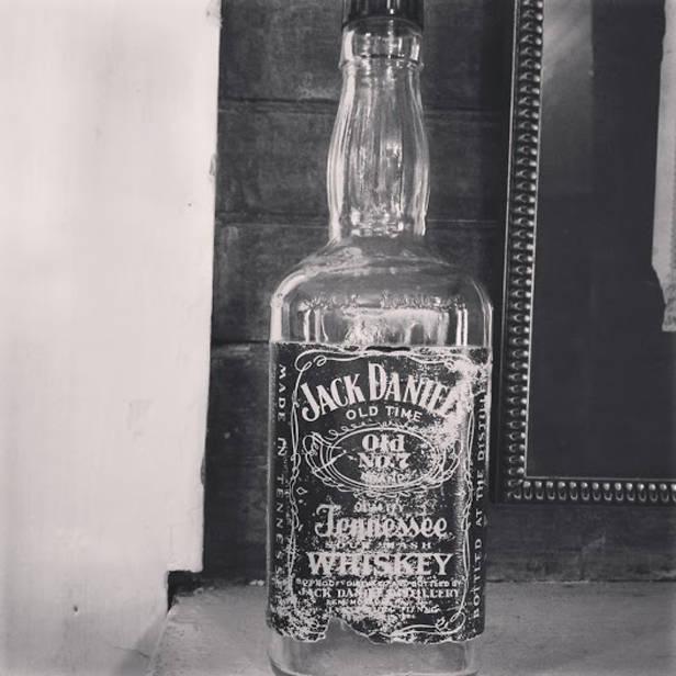 Antigua botella Jack Daniel