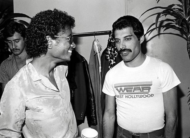 Michael Jackson y Freddy Mercury