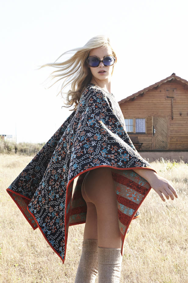 Poncho ANA LOCKING medias VINTAGE gafas de sol MAGPIE VINTAGE