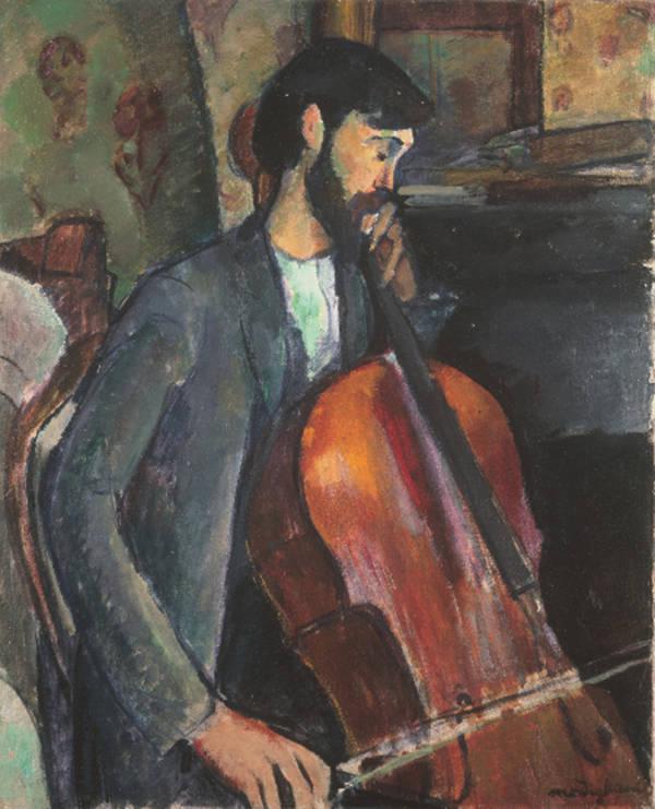 Amedeo Modigliani (1884-1920). El violonchelista 1909