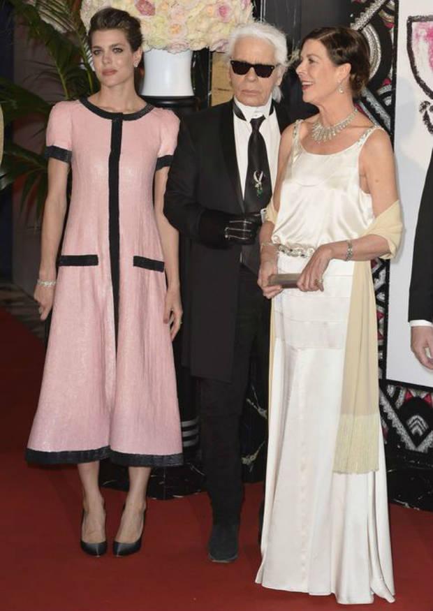 Charlotte Casiraghi, Karl Lagerfeld y Carolina de Mónaco