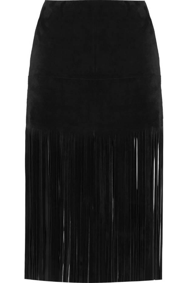 Falda de terciopelo de Valentino