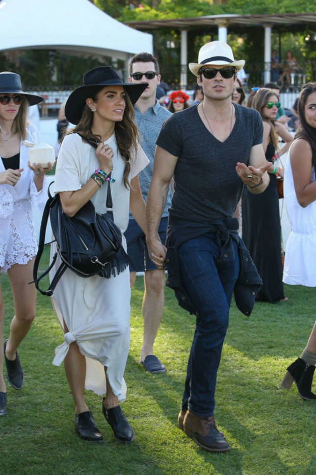 Nikki Reed e Ian Somerhalder aseaban su amor por el festival