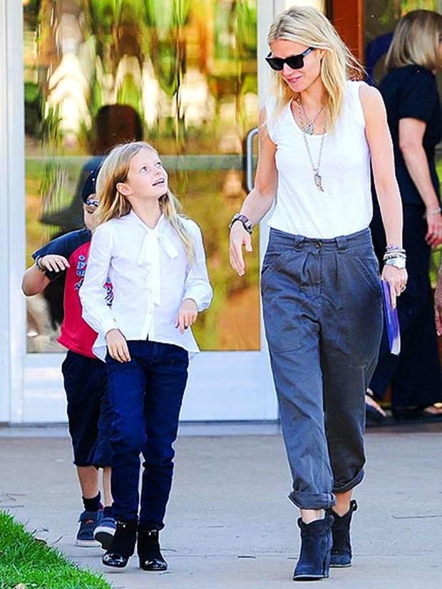 Apple Martin junto a su madre Gwyneth Paltrow
