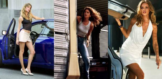 Las supermodelos y el cine de acción