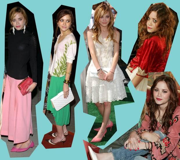 Varios looks de Mary Kate Olsen entre 2004-2005