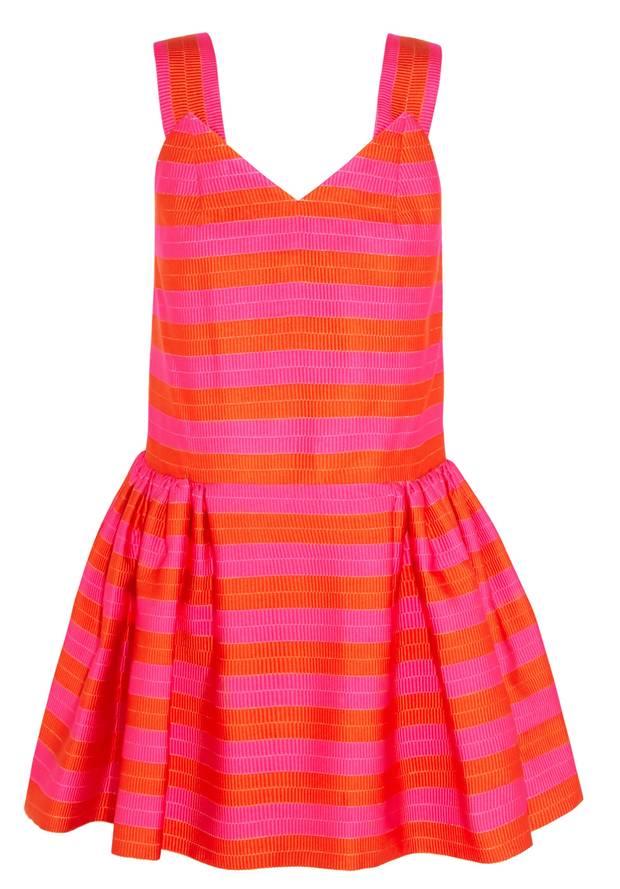 Delpozo Ottoman striped dress NET-A-PORTER
