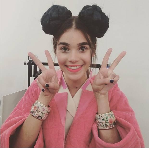 Pauline Horau posa como una auténtica asiática. Instagram @paulinehorau