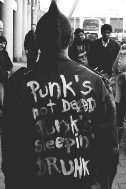 Las laboriosas crestas de los punk revelan su entrega