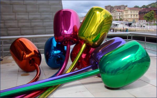 Tulipanes, de Jeff Koons