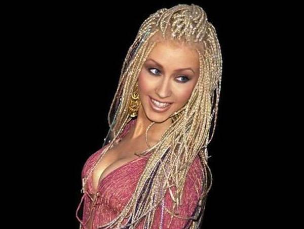 Cristina Aguilera con sus trencitas