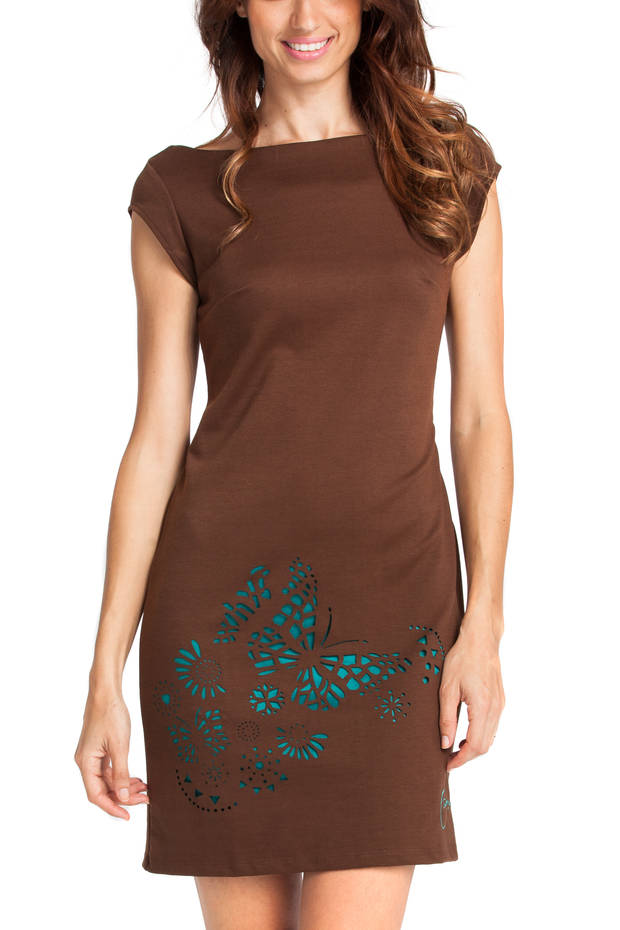 Vestido marrón de Desigual