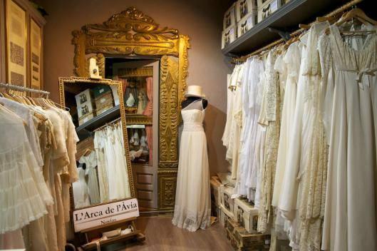 Interior tienda vintage.