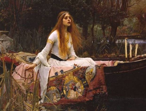 Detalle de la obra The Lady of Shalott, de Joh William Waterhouse. Pinterest