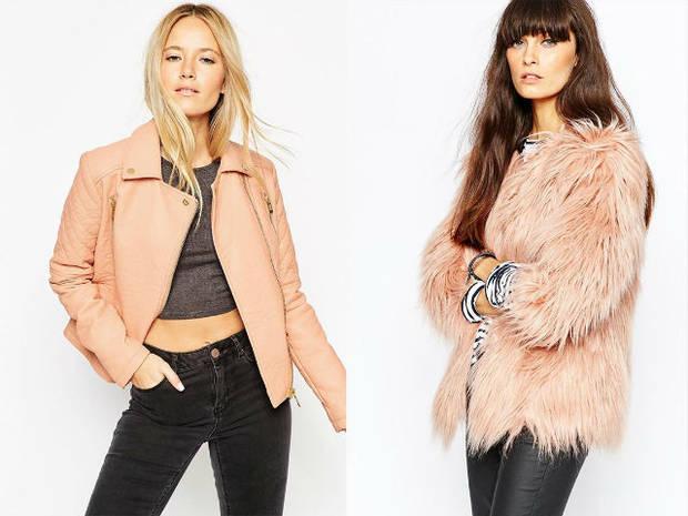 abrigos rosa tendencia