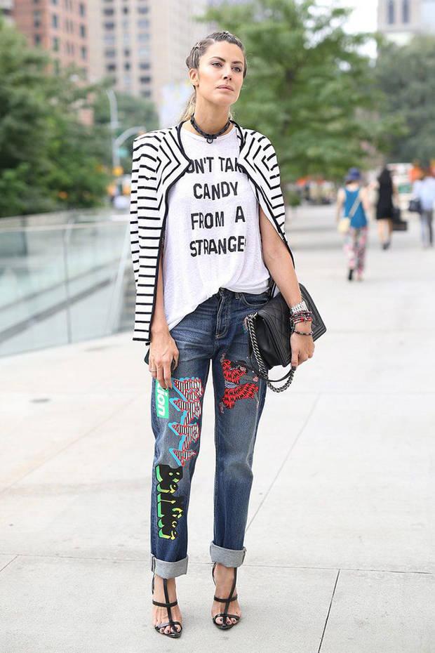 jeans con mensaje