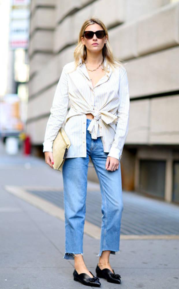 jeans bajos recortados