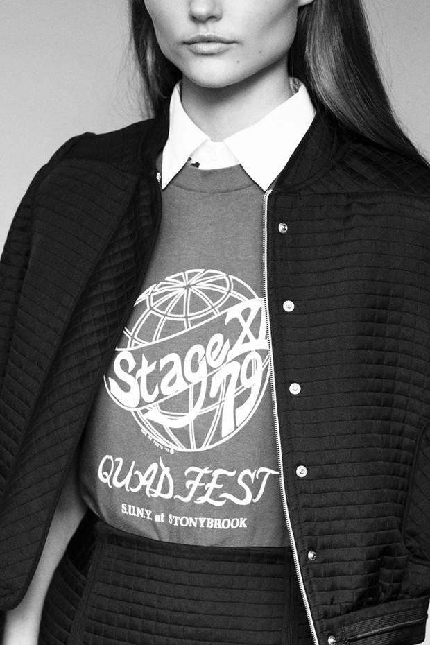 Camisa Acne, camiseta vintage de Holala Ibiza y conjunto lady like the bomber y falda tubo de Tara Jarmon