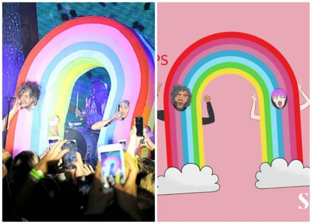 miley arcoiris