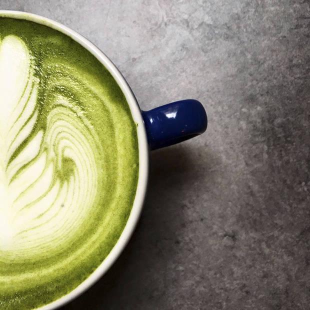 Matcha latte de HanSo Café.