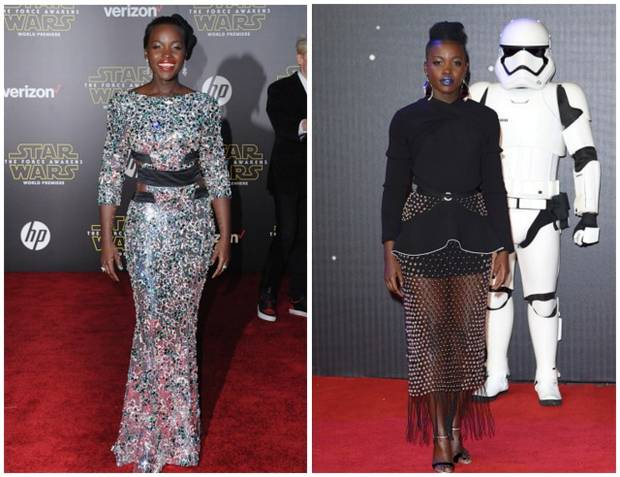 star wars premiere red carpet vanidad lupita