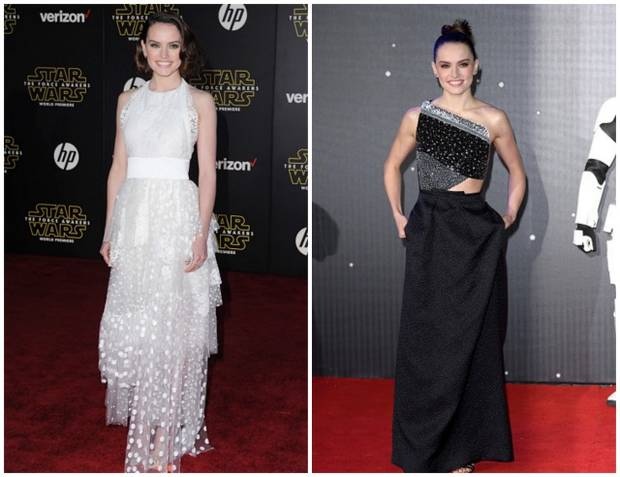 star wars red carpet vanidad Daisy Ridley